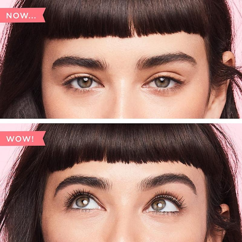 Without and with Benefit Cosmetics They're Real! Mascara (Credit: Benefit Cosmetics)