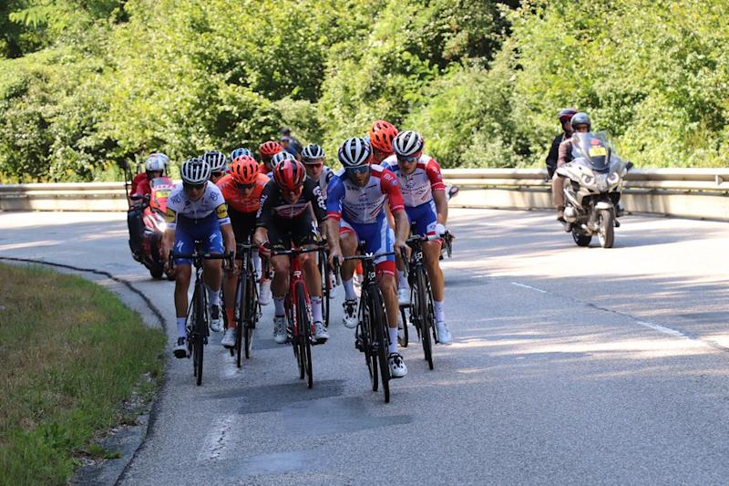 Breakaway at the Tour de l'Ain on stage 3