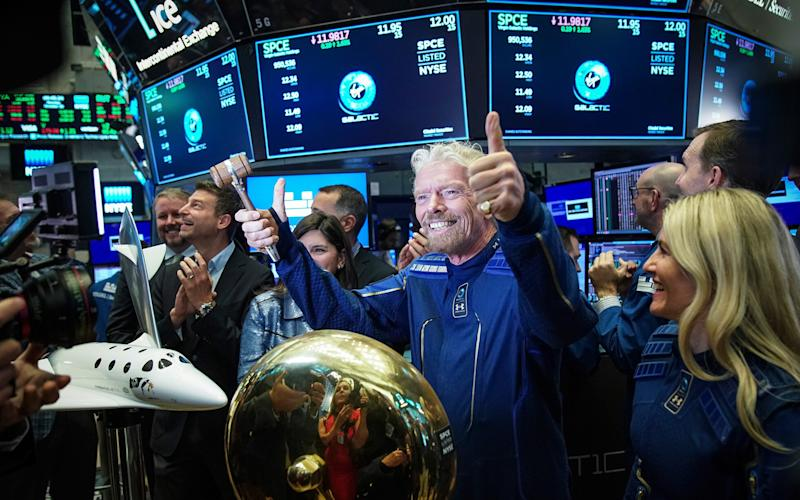 Sir Richard Branson at New York Stock Exchange - Getty