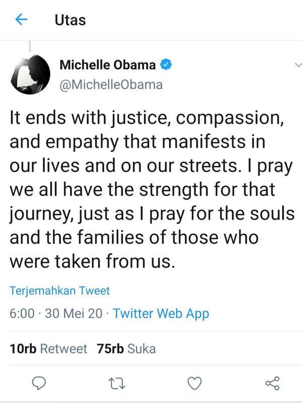 Cuitan Michelle Obama. (Foto: Twitter @michelleobama)