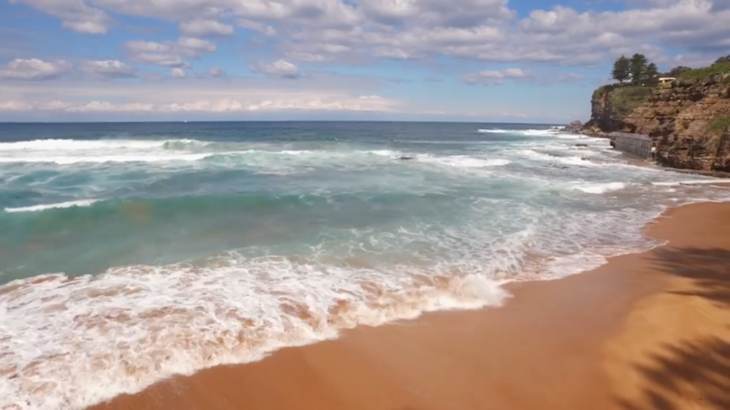 Can you see the rip? Photo: Surf Lifesaving Australia