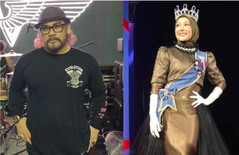 Awie and Erra performed together for fans at the weekend. — Pictures via Facebook/Awie Al Pamalo & Erra Fazira
