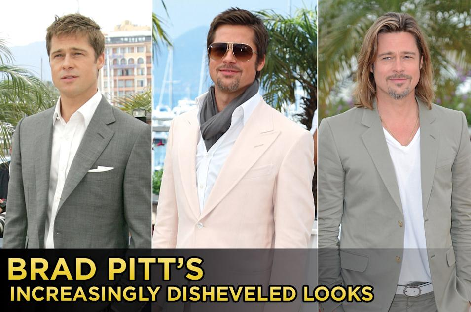 Brad Pitt's Increasingly Dishevled Looks