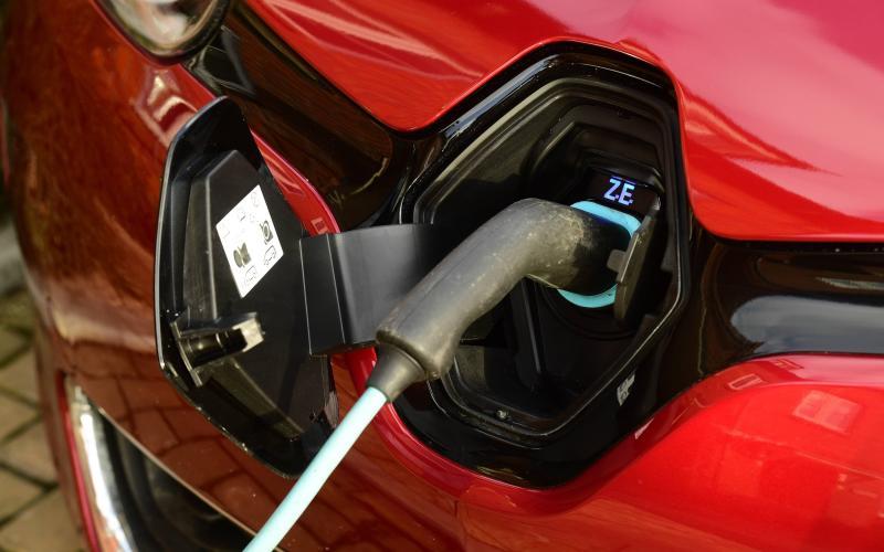 Renault Zoe electric car - charging