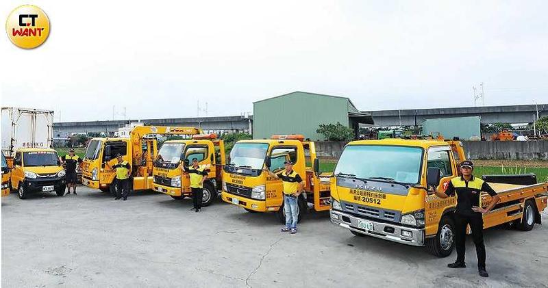 全鋒每月上路服務超過3.5萬次,道援車逾900輛。(圖/王永泰攝)