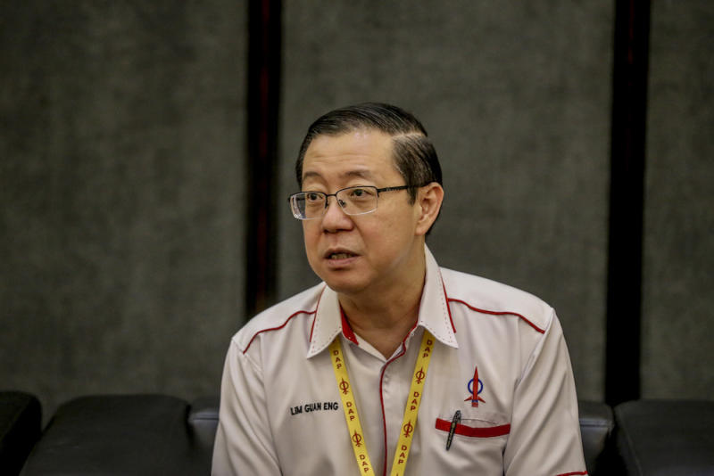 DAP secretary-general Lim Guan Eng speaks to reporters during the 2019 DAP National Conference in Shah Alam May 5, 2019. — Picture by Firdaus Latif