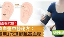 降血壓穴位!降血壓中醫秘方:實用3穴道擺脫高血壓