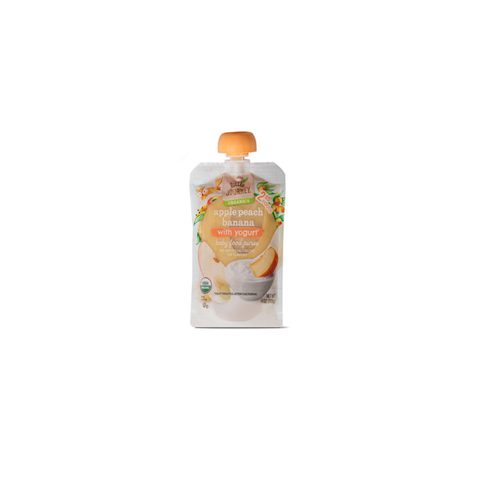 """<p><strong>ALDI</strong></p><p>aldi.us</p><p><strong>$0.79</strong></p><p><a href=""""https://www.aldi.us/en/grocery-goods/baby/baby-pouches-snacks/"""" target=""""_blank"""">Shop Now</a></p><p>Your favorite supermarket ALDI is at it again with their line of Little Journey baby pouches and snacks. Their pouches are all 100% USDA organic and boast delicious and nutritious combinations for your baby. As your child continues to grow, they can enjoy Little Journey munchers, yogurt bites, and puffs.<strong> Moms loved the price point on these Little Journey Packets and that they have no artificial colors or flavors, which are some of the many reasons why ALDI-exclusive Little Journey baby and toddler essentials have earned the Good Housekeeping Seal.</strong> Some of the pouches are even made with whole milk yogurt. Pro tip from one of our moms: Her 8-month-old doesn't normally like any fruit baby food, but she mixed the apple blueberry Little Journey packet in her baby's cereal to sneak some fruit in and it was a hit. </p>"""