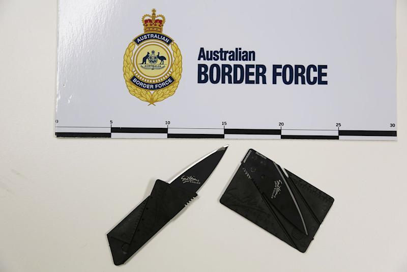 A concealed credit card knife