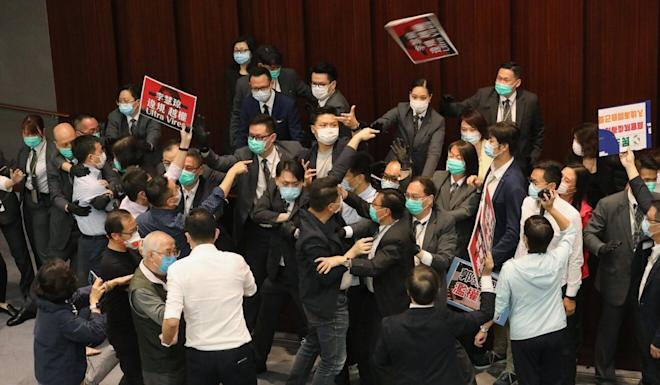 The court ruling follows several outbreaks of mayhem at the Legislative Council, including a bitter row over the chairmanship of the House Committee. Photo: Dickson Lee