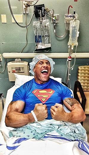 Dwayne Johnson Maintains His Tough Guy Status Even After Emergency Surgery: Photo