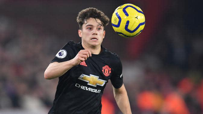 Pemain Manchester United, Daniel James. (AFP/Paul Ellis)