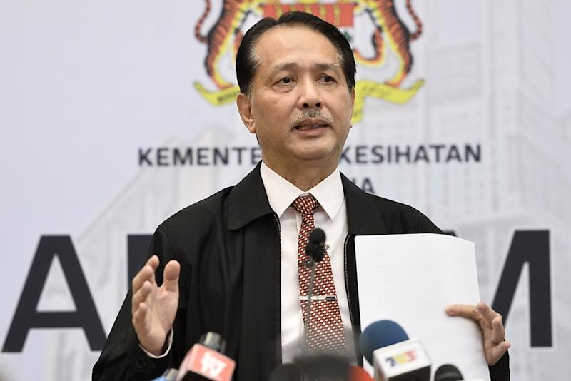 Health Director-General Datuk Noor Hisham Abdullah said authorities are still seeking out the remaining Malaysians who attended a mass religious gathering in Sulawesi. — Picture by Miera Zulyana