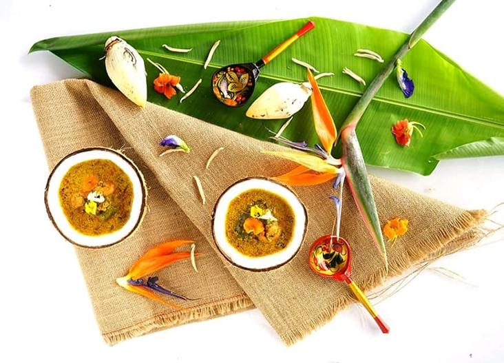You can use banana blossoms to create this soup.