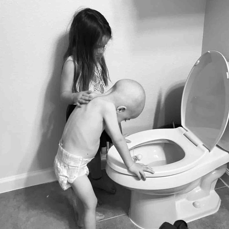 These Photos of a Girl Comforting Her Brother Through Chemo Will Make You Bawl