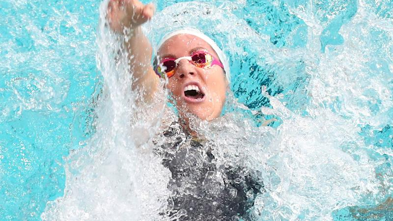 Emily Seebohm in action. (Photo by Chris Hyde/Getty Images)