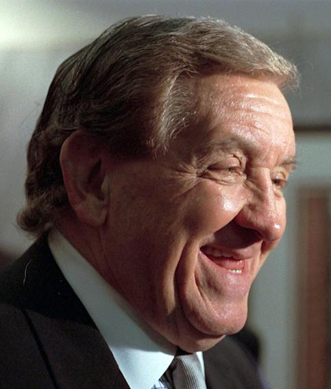 "FILE - This Feb. 5, 1998 file photo shows actor George Lindsey, who portrayed Goober, in the television series ""The Andy Griffith Show"". Lindsey, who spent nearly 30 years as the grinning Goober , has died, Sunday, May 6, 2012. He was 83. (AP Photo/Montgomery Advertiser, Lloyd Gallman, file)"