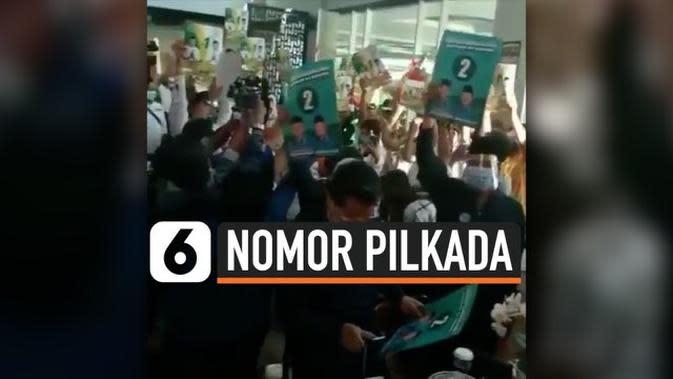 VIDEO: Viral, Kerumunan Warga di Pengundian Nomor Pilkada Sidoarjo