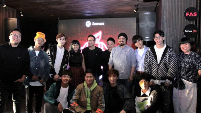 Konferensi pers Siap Menjajal Experience Economy Bersama Samara Media & Entertainment di The Dutch, Jakarta (15/1).