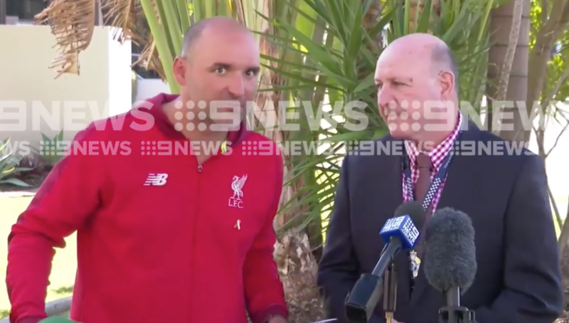 Detective tackles man accused of stalking during dramatic Australian press conference
