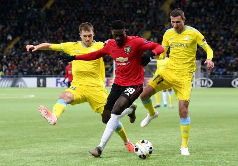 Astana bangkit untuk pukul tim muda Manchester United 2-1