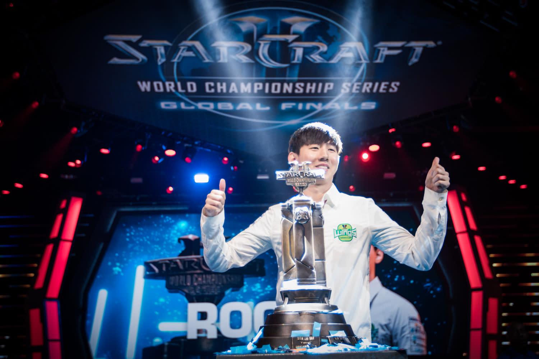 南韓選手在《星海爭霸》世界中有著絕對的統治力。(圖為2017年WCS世界冠軍Rogue)