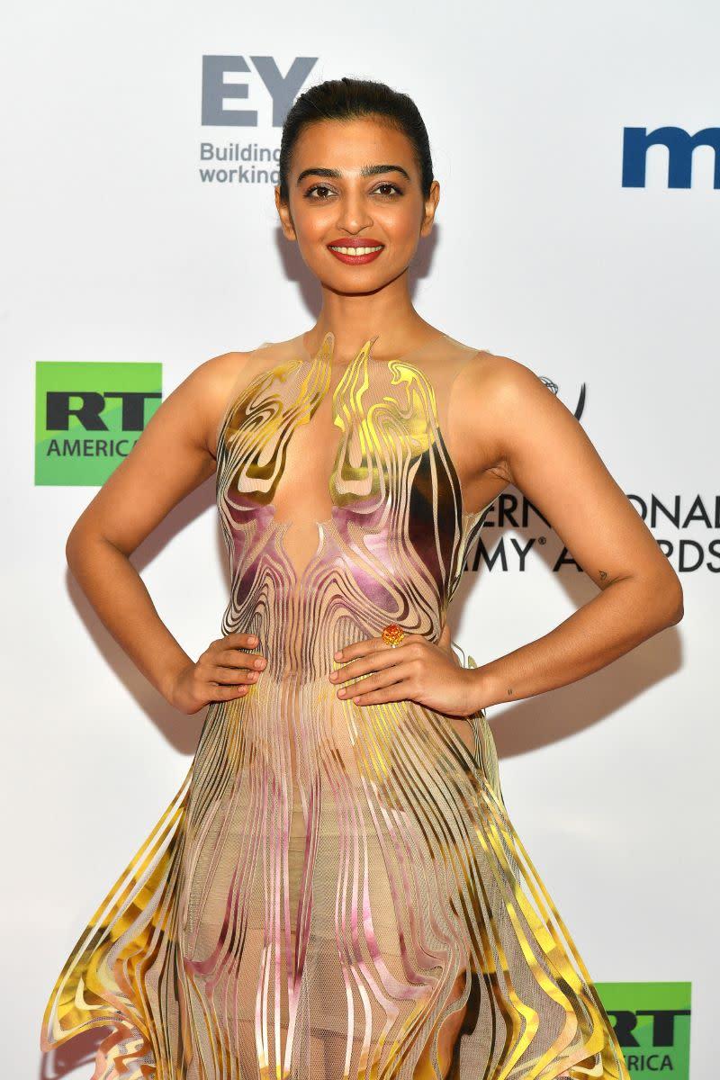 Radhika Apte attends the 2019 International Emmy Awards Gala on November 25, 2019 in New York City.