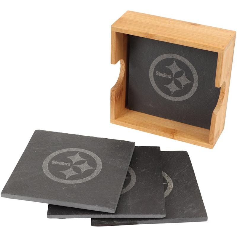 Pittsburgh Steelers 4-Pack Square Coaster Set