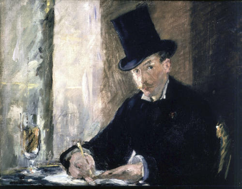 """FILE - This undated file photograph released by the Isabella Stewart Gardner Museum shows the painting """"Chez Tortoni,"""" by Manet, one of more than a dozen works of art stolen in the early hours of March 18, 1990. The FBI said Monday, March 18, 2013, it believes they know the identities of the thieves, belonging to a criminal organization based in New England the mid-Atlantic states. (AP Photo/Isabella Stewart Gardner Museum, File) NO SALES"""