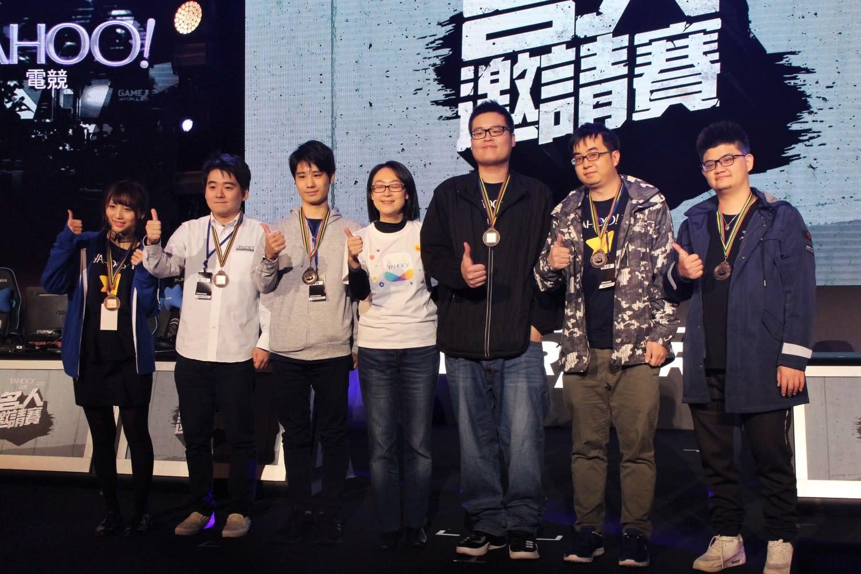 日本隊與台灣藍隊獲得第3。
