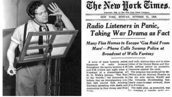 Orson Welles dan siaran 'War of the Worlds' (The New York Times)
