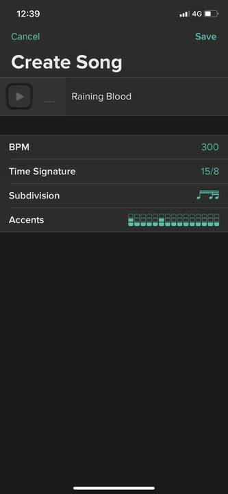 Soundbrenner Metronome create song