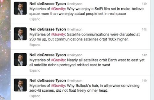 'Gravity': Here's What Astrophysicist Neil DeGrasse Tyson Liked