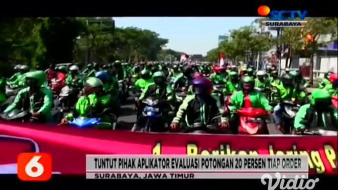 VIDEO: Apa Saja Tuntutan Demo Ribuan Ojek Online di Surabaya ?