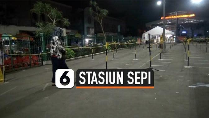 VIDEO: Hari Keempat PSBB DKI, Stasiun Rangkasbitung Sepi