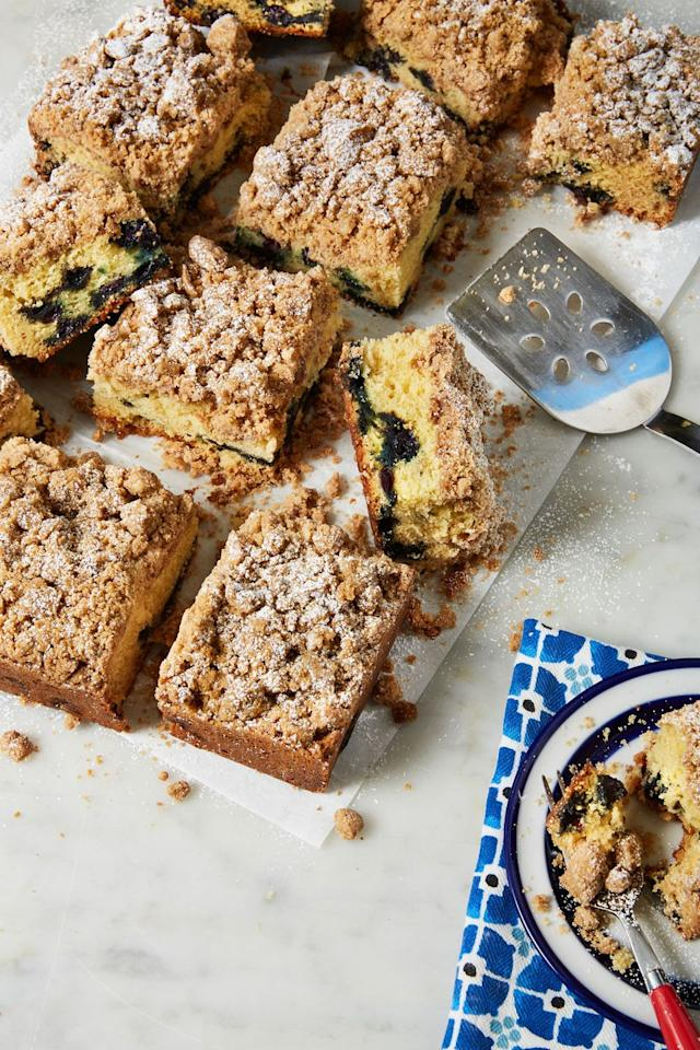 """<p>These are an amazing way to start your day.</p><p>Get the recipe from <a href=""""https://www.delish.com/cooking/recipe-ideas/a31403712/blueberry-coffee-cake-recipe/"""" target=""""_blank"""">Delish.</a></p>"""
