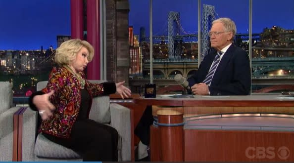 Joan Rivers Slams Adele's Figure On 'Letterman'