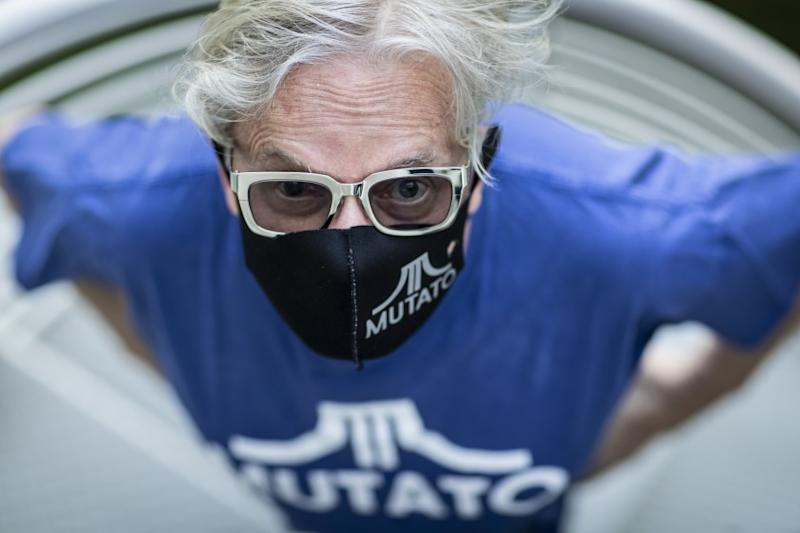 Los Angeles, CA, August 27, 2020 - Mark Mothersbaugh survived Covid-19 and is recovering at home. (Robert Gauthier / Los Angeles Times)