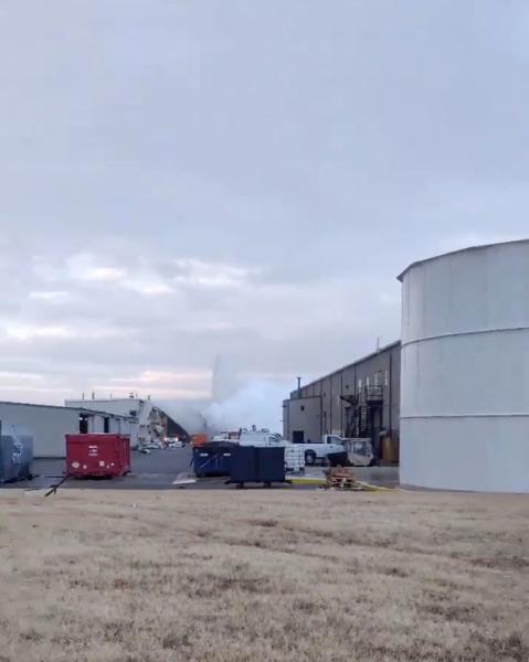 Nitrogen tank explosion at Beechcraft facility in Wichita, Kansas