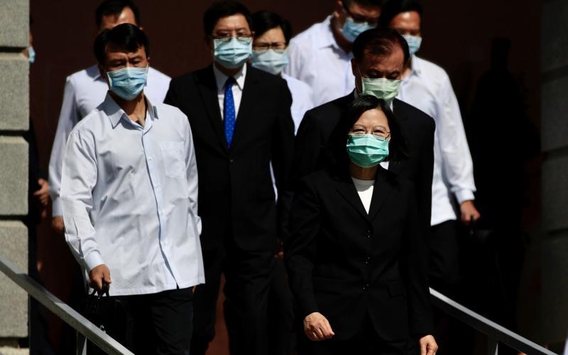 Taiwanese President Tsai Ing-wen wears a face mask - Ritchie B Tongo/EPA-EFE