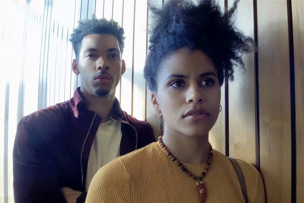 """<p>This sports drama, which stars <strong>Moonlight</strong>'s André Holland and <strong>Atlanta</strong>'s Zazie Beetz, follows a sports agent who pitches a rookie basketball player on a potentially problematic business proposition, and - like director Steven Soderbergh's <strong>Unsane</strong> - the movie was shot entirely on an iPhone. It's beautifully acted, almost uncomfortably intimate at times, and so subtly political that you don't realize its incredible power until it's over. <br></p> <p><a href=""""http://www.netflix.com/title/80991400"""" target=""""_blank"""" class=""""ga-track"""" data-ga-category=""""Related"""" data-ga-label=""""http://www.netflix.com/title/80991400"""" data-ga-action=""""In-Line Links"""">Watch <b>High Flying Bird</b> on Netflix</a>. </p>"""