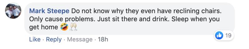 Yahoo readers react to seat-reclining debate on Facebook.