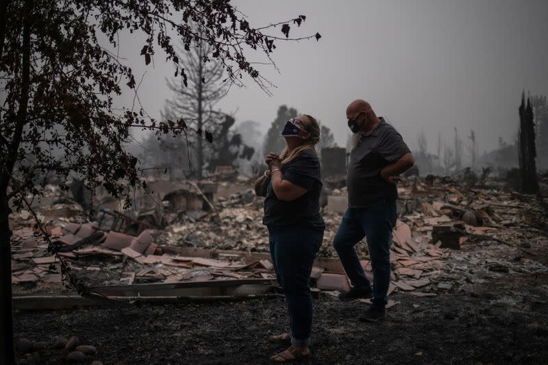 'All gone:' Residents return to burned-out Oregon towns as many West Coast wildfires keep burning