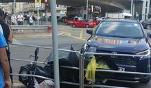 旺角亞皆老街「三車」串燒 鐵騎士倒地受傷