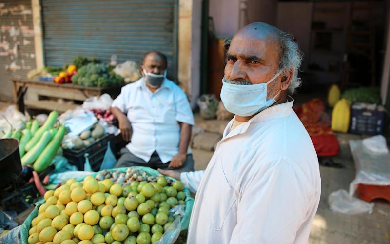 It was business as usual in Bhogal market, as Delhi residents ignored curfew to carry out their daily shopping - Cheena Kapoor