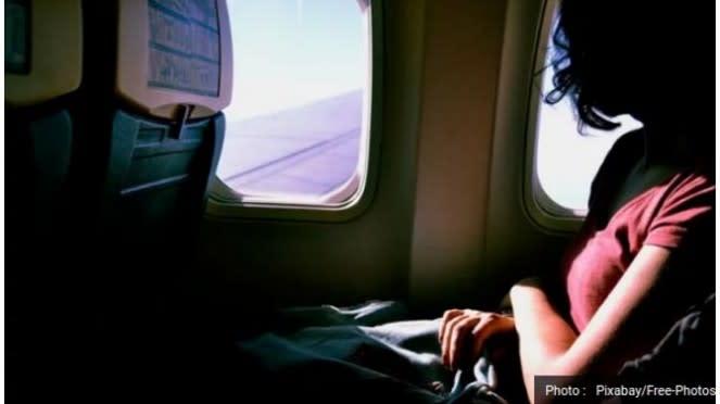 Ilustrasi penumpang di dalam pesawat.