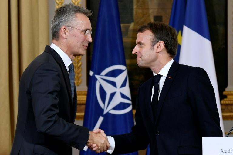 Emmanuel Macron stood by his criticism of NATO after talks with Jens Stoltenberg
