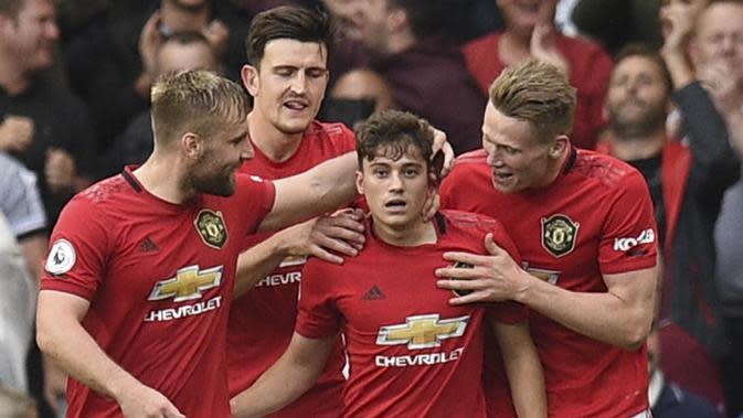 3. Daniel James (Manchester United) - Masuk sebagai pengganti saat melawan Chelsea dirinya langsung berhasil mencetak gol. Setelahnya pria asal Wales ini selalu dipercaya sebagai pemain inti dan pekan lalu kembali mencetak gol. (AFP/Oli Scarff)