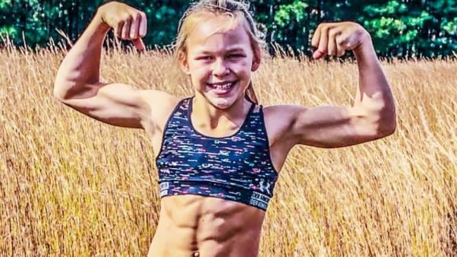 Olahraga 30 Jam, Tubuh Kekar Gadis 10 Tahun Mirip Binaragawan