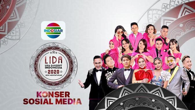 LIDA 2020 Konser Sosial Media digelar live di Indosiar, Selasa (22/9/2020) pukul 19.30 WIB